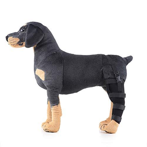 PESUHOUH Hunde Schutzfolie Carpal Hunde Bandage FüR Das Hinterbein Ihres Hundes,Postoperative Gehhilfe FüR Hunde,Linkes Hinterbein,L