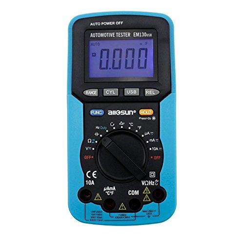 YELLAYBY Portátil Portátil USB Científico coche multímetro digital dedicado de permanencia ángulo/número de revoluciones/tensión/corriente, resistencia/capacidad/frecuencia/ciclo de trabaj