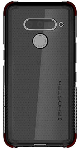 Ghostek Covert Designed for LG V50 ThinQ 5G Case Clear Silicone Bumper Phone Cover Ultra Thin Slim Fit Skin Wireless Charging Compatible Tough Shockproof Heavy Duty Protection Anti-Slip Grip - (Smoke)