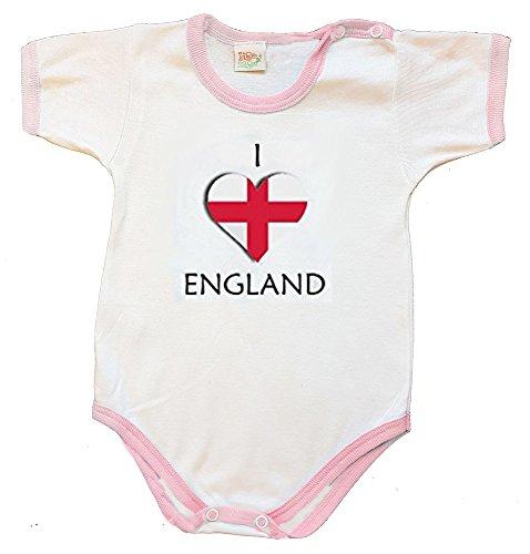 Zigozago - Body Bébé à Manches Courtes avec Broderie Angleterre Taille: 12 Mois - Couleur: Rose