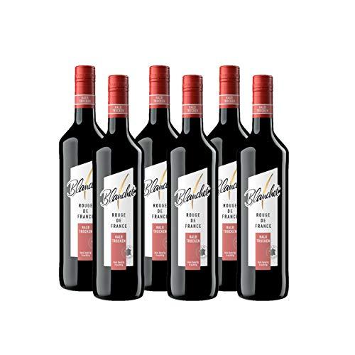 Blanchet Rouge de France Rotwein Halbtrocken (6 x 0,75l)