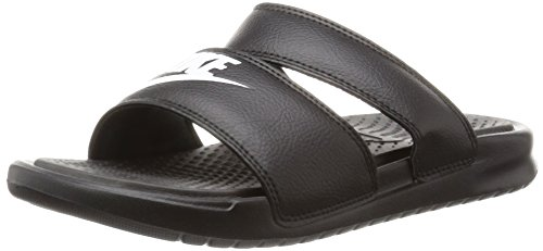 Nike Benassi Duo Ultra Slide Womens, Black/White, Size 8.0