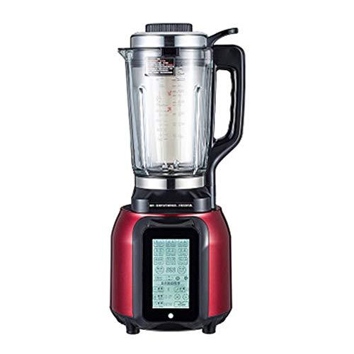KOKO Máquina de alimentos rotos Calefacción Hogar Automático Multifunción Vidrio Mezclador eléctrico Exprimidor Vidrio de sílice de alto boro Una limpieza clave 1100W-red