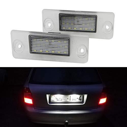 GOFORJUMP 2pcs 24LED Plaque d'immatriculation lumière numéro Lampe de Plaque d'immatriculation arrière Lampe pour A/UDI A4 B5 A3 8L S5 B5 A3 S3 A4 S4