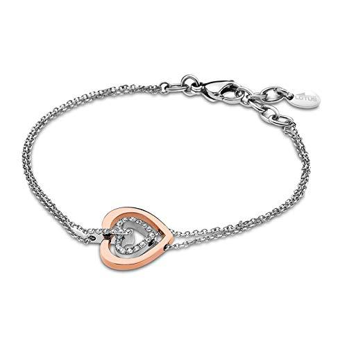Lotus Style Edelstahl Armband LS1867-2/2 Damen Schmuck Silber Kupfer D2JLS1867-2-2 EIN schönes Geschenk zu Weihnachten, Geburtstag, Valentinstag für die Frau