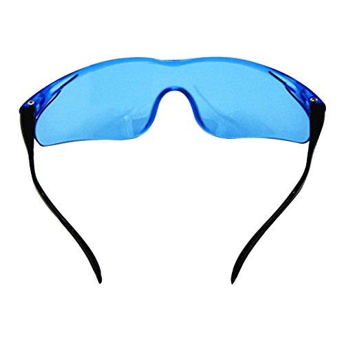 angju - Gafas de plástico para pistola de juguete para Nerf Gun Accesorios para proteger los ojos Unisex al aire libre niños clásicos regalos, color azul, tamaño 14.5×4.5cm