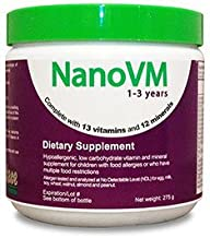 Solace Nutrition NanoVM 1-3 (275g) Flavorless Powdered Hypoallergenic, Carbohydrate Free Vitamin & Mineral Supplement, Designed Specifically For Children 1-3 Years of Age
