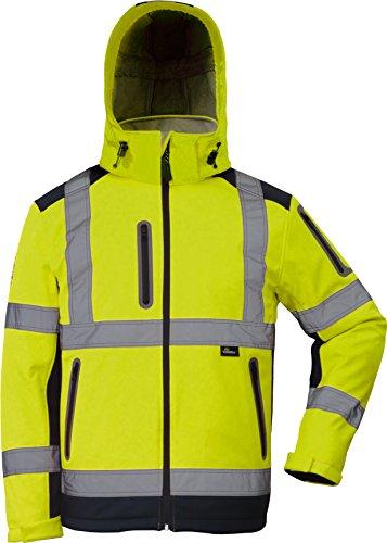 Winter Warnschutzsoftshelljacke in gelb in Größe 5XL