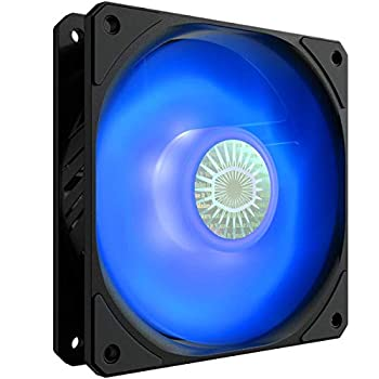 Cooler Master SickleFlow 120 V2 Blue Led Square Frame Fan Air Balance Curve Blade Sealed Bearing PWM Control for Computer Case & Liquid Radiator