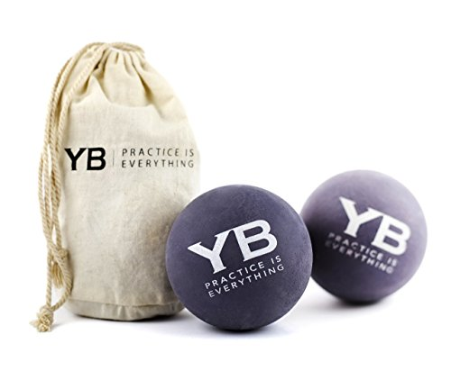 YOGABODY Jumbo Yoga Massage Balls with Canvas Bag, 2 Piece
