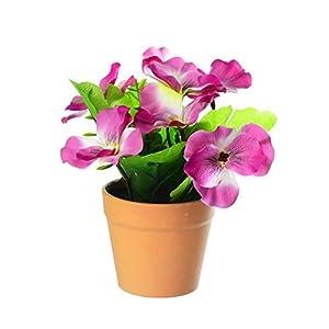 Silk Flower Arrangements ZTGD Artificial Flowers,1Pc Artificial Flower Pansy Plant Bonsai Home Office Garden Desk Party Decor