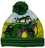 John Deere Green Toddler Size Fleece Lined Tractor Photo Beanie Stocking Cap