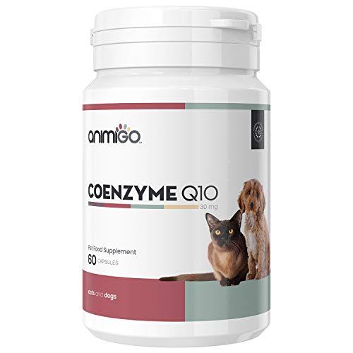 Animigo Co-enzima Q10 per Cani e Gatti - Integratore Alimentare Naturale per la Salute di Cuore, Denti e Gengive - Supporta la Normale Produzione di Energia e Il Sistema Immunitario - 30mg 60 Capsule