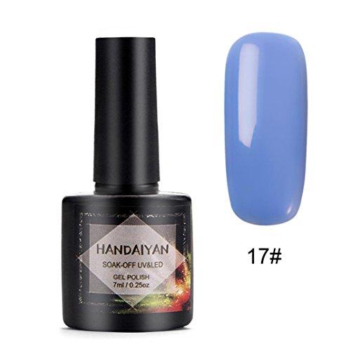 YUYOUG 7ml Mode Vernis à Ongles Nail Art Nude Gel Nail Gel (B)