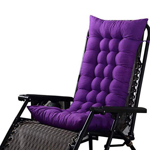 Hochlehner Sitzauflagen Memory Baumwolle Stuhlauflage Auflage Mit Dicker Comfort Polsterung Geeignet Für Klappsessel Liegestuhl Für Gartenmöbel,Lila