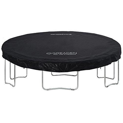 Greaden - Funda/lona de protección de PVC negro para camas elásticas Freestyle de 250/305/360/430cm