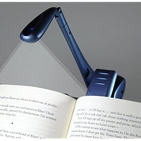 tragbare Reise Buch Leselicht Lampe im Bett Nacht Licht quanjucheer Mini LED Clip Leselampe plastik 9cm x 3cm//3.54 x 1.18 wei/ß
