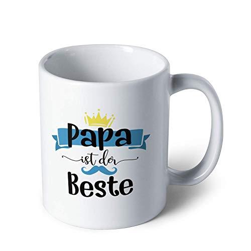 Sweese 650.806 Tasse mit Motivdruck ''Papa ist der Beste'', Kaffeebecher aus Porzellan, Geschenk für jeden Anlass, 320 ml