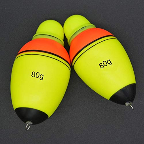 Anbel Pesca boya Flotante, 2 Piezas de Equipos de Pesca electrónico de luz Nocturna Flotador Luminoso del Flotador de Agua de mar de plástico Equipos de Pesca Caña de Pescar Flota (Color : Color5)