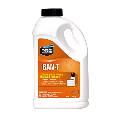 Pro Ban T is a Water Softener Tannin and Iron Removal Cleaner that is Specially Formulated to Effectively Lower pH and Remove Tannin and Iron from Fouled Water Softeners