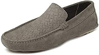 TONI ROSSI Men's Grey Stanzen Leather Casual Loafers (650153)