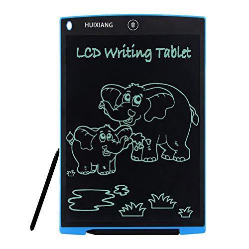 Tavoletta Grafica LCD 12 Pollici HUIXIANG Digitale Scrittura Tavola da Disegno eWriter Lavagna Eelettronica LCD Writing Tablet Drawing Pad Regalo per bambini, Insegnante, Studenti, Progettista (Blu)