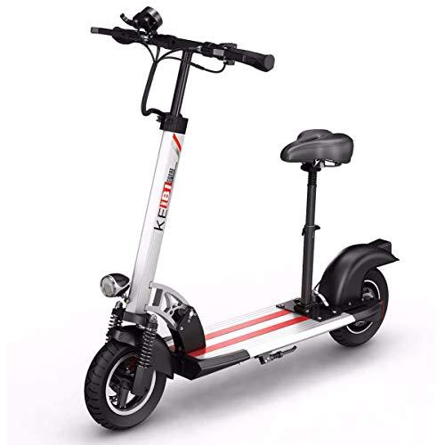 WOF Elektroroller Adult-Folding E Scooter 3 Geschwindigkeitsmodi Bis zu 50 km/h, LCD-Display, Dual 800W Motor, 10 Zoll Luftreifen, for höhenverstellbare Roller for Erwachsene und Jugendliche