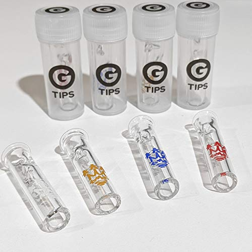 G Tips X Smo-King, Glas, runder Kopf, Roach-Filter 4 PACK - 1 OF EACH