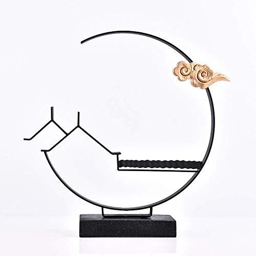 HandWerk Dekoration Desktop-Skulptur Dekoration Zen Schmiedeeisen Soft Home Wohnzimmer Veranda Ornament TV Schrank Möbel kreative Persönlichkeit 38 * 38cm