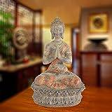 KKUUNXU Ristorante Tailandese Club House Statua di Buddha Decorazione Soggiorno Artigianato Zen Buddha Seduto Sud-EST Asiatico Decorazione per l'ingresso della casa