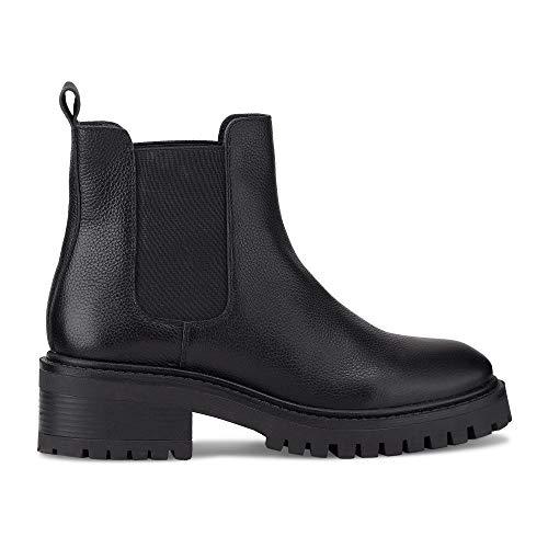 Another A Damen Chelsea-Boots Schwarz Glattleder 39
