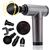 Massage Gun, Handheld Electric Deep Tissue Body Muscle Massager, Cordless, High Intensity Vibration Massage Device with 4 Speed