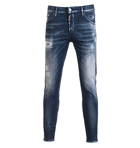 DSQUARED2 Luxury Fashion Uomo UAAC2ST046437003 Blu Cotone Jeans | Stagione Outlet