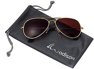 WODISON Classic Kids Aviator Sunglasses Reflective Metal...