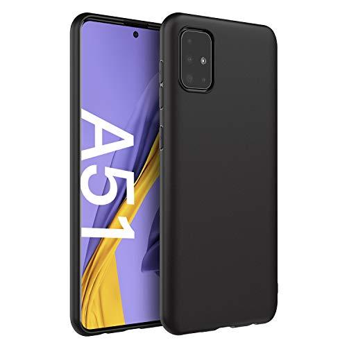 EasyAcc Hülle Hülle für Samsung Galaxy A51, Schwarz TPU Handyhülle Matte Oberfläche Handyhülle Schutzhülle Schmaler Handyschutz Kompatibel mit Das Samsung Galaxy A51
