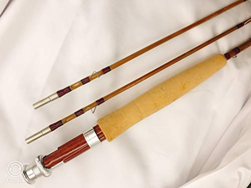 """Zhu Bamboo Fly Rod 6'6"""" for #2 or #3 Line Wt,2 Piece with 2 Tips."""