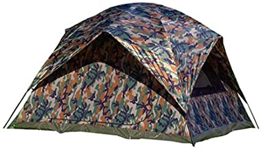 Texsport 5 Person Headquarters Square Dome Camping Backpacking Tent, Camouflage