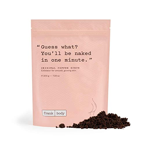 Frank Body Original Coffee Scrub | Natural & Cruelty Free Exfoliating Body Scrub | Hydrating Vegan Scrub Skin Care | Effective For Stretch Marks, Acne, Cellulite | 1ct, 200g -- 7.05oz