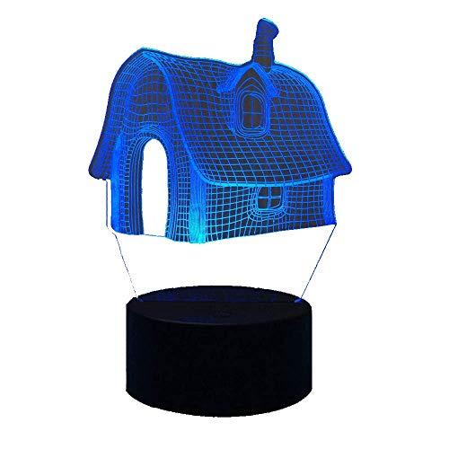 Lámpara LED Luces nocturnas LED visuales 3D para niños Lámpara de mesa USB táctil como además de Lámpara Lámpara de luz nocturna para dormir para bebés Decoración de la habitación 16 colores