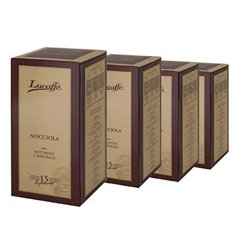 Lucaffé Hazelnut Kaffeepads Ø44 mm, 60 E.S.E-Pads, kompostierbare Papierpads, Arabica-Kaffeepads mit Noten von Robusta mit Haselnussgeschmack