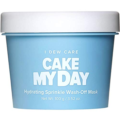 I DEW CARE Cake My Day Hydrating Sprinkle Wash-Off Facial Mask | Hyaluronic Acid Korean Skin Care Face Mask, Face Moisturizer To Plump, Nourish And Moisturize Skin | Birthday gifts for friends female