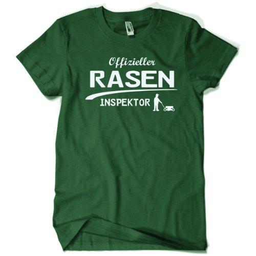 1O1Grillstoff Offizieller Rasen Inspektor Gärtner T-Shirt Gr. XL Bottlegreen