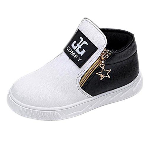 Igemy 1 Paar Kinder Beiläufig Sport Jungen Mädchen Mode Martin Stiefel Sneakers Schuhe (27, Schwarz)