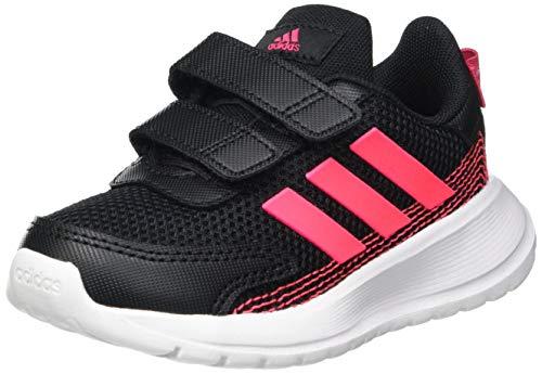 adidas TENSAUR Run I, Scarpe da Ginnastica Unisex-Bambini, Core Black/Signal Pink/Power Pink, 20 EU