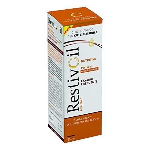 RestivOil Shampoo Fisiologico Nutriente per Capelli, Olio Fisiologico con Azione Idratante Protettiva e Riparatrice, per Capelli Secchi e Opachi, 250 ml