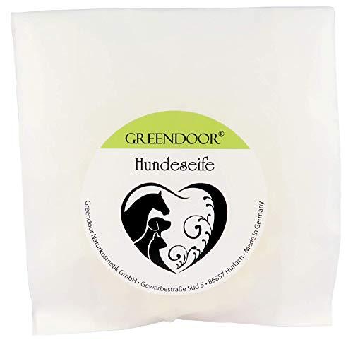 NEU: Greendoor Hundeseife in Aufbewahrungsdose aus Weissblech, 80g, natürliche Fellseife, Natur Fellpflege für Hund und Katze, Hundeshampoo, Fellshampoo, Tiershampoo, Tierpflege aus der Naturkosmetik Manufaktur – preiswert da sehr ergiebig - 2