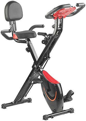 PEARL sports Crosstrainer: 2in1-Klapp-Heimtrainer, 2 Expander, Tablet-Halter, 2,5 kg Schwungmasse (Ergometer)