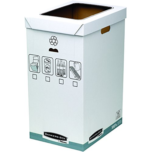 Bankers Box System - Papelera de reciclaje, blanco