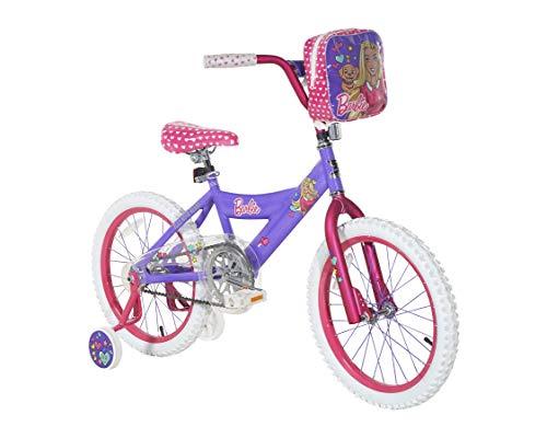 Dynacraft girls Barbie 18' Bike with Removable Training Wheels , Street Bike Purple