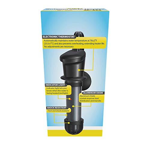 Tetra HT Submersible Aquarium Heater With Electronic Thermostat, 50-Watt